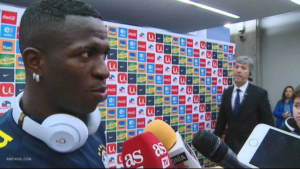 """维尼修斯:""""我和最好的球员莫德里奇在一起踢球"""""""