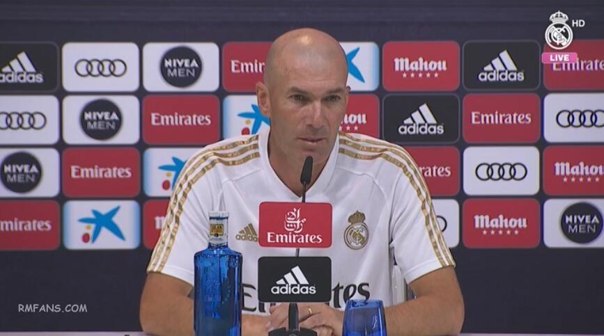 齐达内:我们需要球迷站在我们的身后