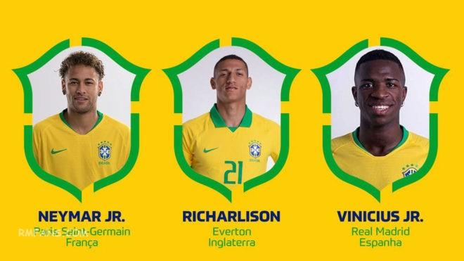 维尼休斯入选巴西国家队
