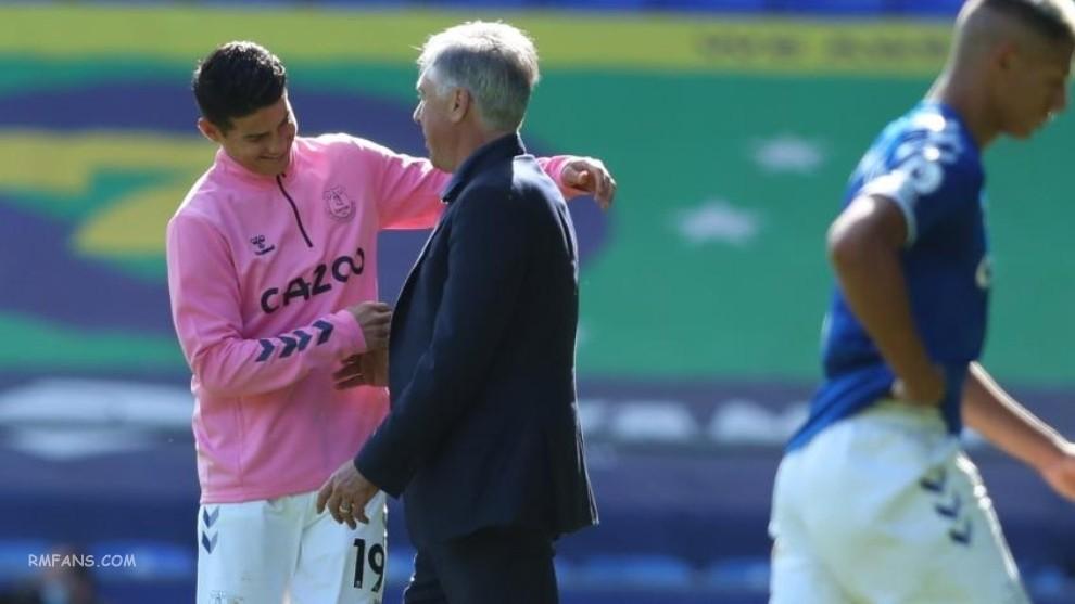 """安切洛蒂:哈梅斯曾希望在皇马继续踢球"""""""