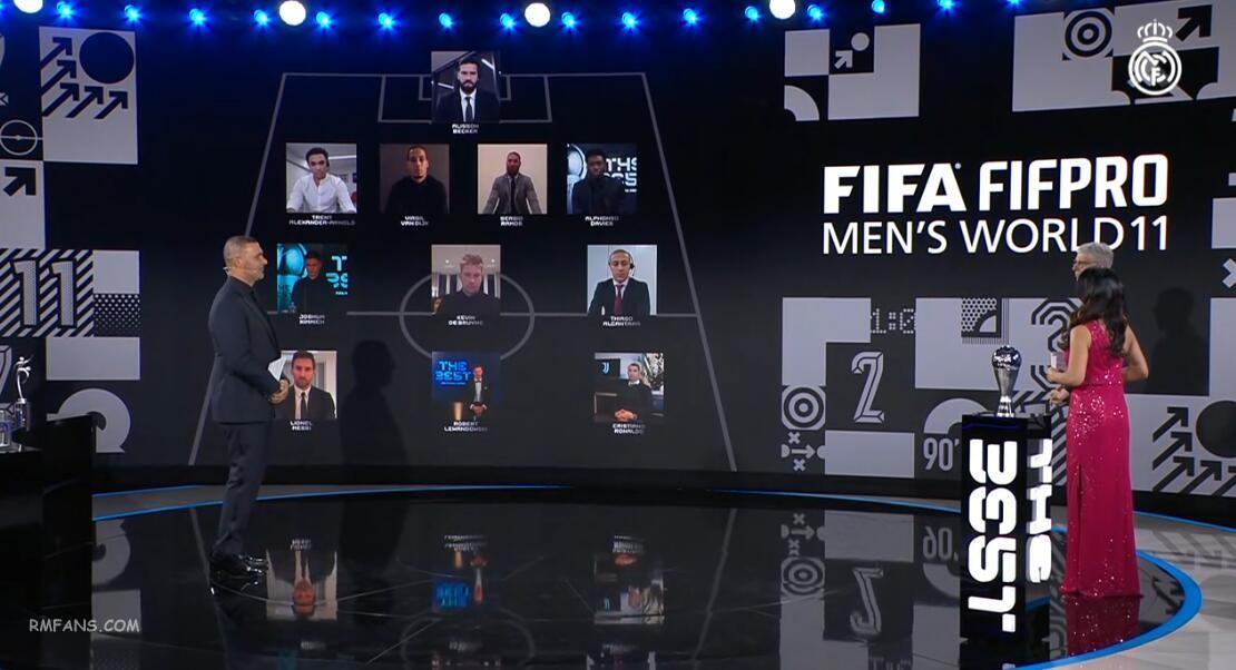 """拉莫斯入选FIFA年度最佳阵容"""""""